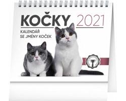 Stolní kalendář Kočky - se jmény koček 2021