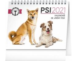 Stolní kalendář Psi - se jmény psů 2021