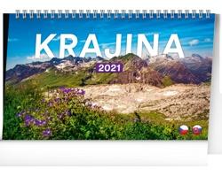 Stolní kalendář Krajina 2021 - česko-slovenský