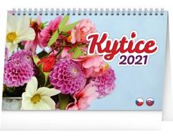 Stolní kalendář Kytice 2021 - česko-slovenský