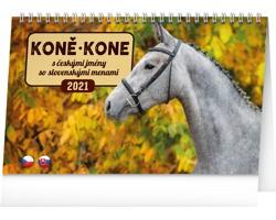 Stolní kalendář Koně - Kone 2021 - česko-slovenský