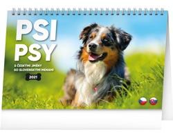 Stolní kalendář Psi - Psy 2021 - česko-slovenský