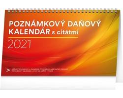 Stolní kalendář Poznámkový daňový s citátmi 2021 - slovenský