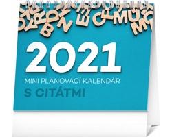 Stolní kalendář Plánovací s citátmi 2021 - slovenský