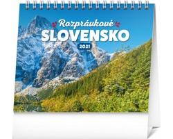 Stolní kalendář Rozprávkové Slovensko 2021 - slovenský