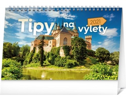 Stolní kalendář Tipy na výlety 2021 - slovenský