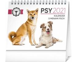 Stolní kalendář Psy - s menami psov 2021 - slovenský