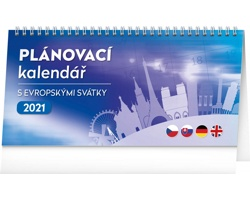 Stolní kalendář Plánovací s evropskými svátky 2021