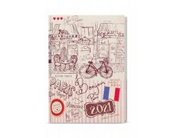 Denní diář Adam Lamino 2021, B6 - Paříž