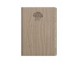 Denní diář Ctirad Wood s výsekem 2020, A5 - světle hnědá