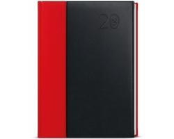 Denní diář David Kombi 2020, A5 - červená / černá