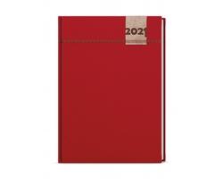 Denní diář David Denim 2021, A5 - červená