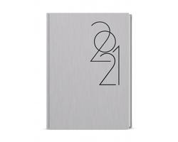 Denní diář David Formen 2021, A5 - stříbrná