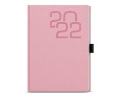 Denní diář David Fabric 2022, A5 - růžová