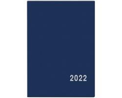 Měsíční diář Anežka PVC 2022, 7x10 cm - modrá