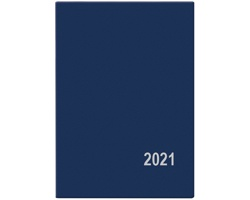 Měsíční diář Anežka PVC 2020, 10x7cm - modrá
