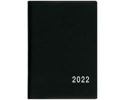 Měsíční diář Anežka PVC 2022, 7x10 cm - černá