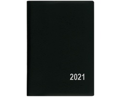 Měsíční diář Anežka PVC 2021, 7x10 cm - černá