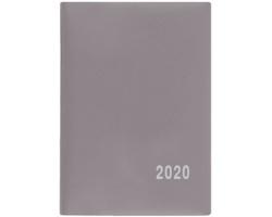 Měsíční diář Anežka PVC 2020, 10x7cm - šedá