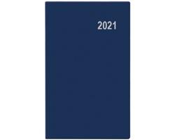 Měsíční diář Diana PVC 2021, 9x17 cm - modrá
