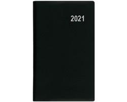 Měsíční diář Diana PVC 2021, 9x17 cm - černá