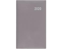 Měsíční diář Diana PVC 2020, 17x9cm - šedá