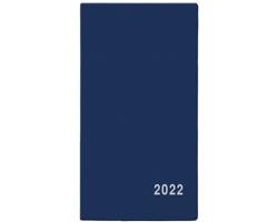 Měsíční diář Františka PVC 2022, 9x17 cm - modrá