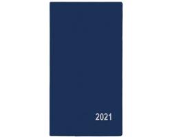 Měsíční diář Františka PVC 2021, 9x17 cm - modrá