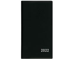 Měsíční diář Františka PVC 2022, 9x17 cm - černá