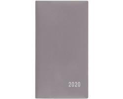 Měsíční diář Františka PVC 2020, 17x9cm - šedá