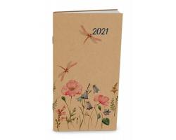 Měsíční diář Halina Craft 2021, 11x21 cm - louka
