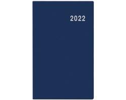 Měsíční diář Marika PVC 2022, 9x15 cm - modrá