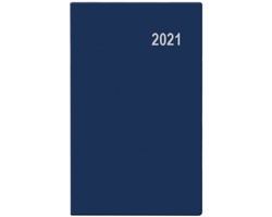 Měsíční diář Marika PVC 2020, 15x9cm - modrá