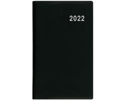 Měsíční diář Marika PVC 2022, 9x15 cm - černá