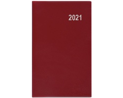 Měsíční diář Marika PVC 2020, 15x9cm - bordó