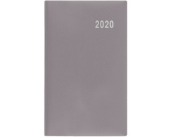 Měsíční diář Marika PVC 2020, 15x9cm - šedá