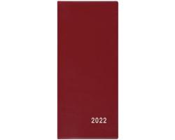 Měsíční diář Xenie PVC 2022, 8x18 cm - bordó