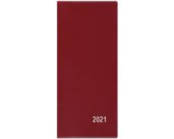 Měsíční diář Xenie PVC 2021, 8x18 cm - bordó