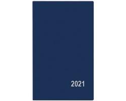 Kapesní týdenní diář Alois PVC 2021, 9x15 cm - modrá