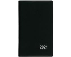 Kapesní týdenní diář Alois PVC 2020, 15x9cm - černá