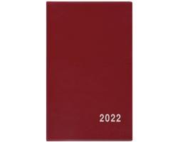 Kapesní týdenní diář Alois PVC 2022, 9x15 cm - bordó