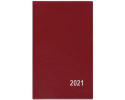 Kapesní týdenní diář Alois PVC 2020, 15x9cm - bordó