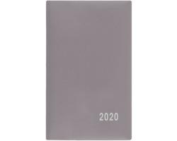 Kapesní týdenní diář Alois PVC 2020, 15x9cm - šedá