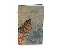Kapesní týdenní diář Alois Craft 2021, 9x15 cm - motýl