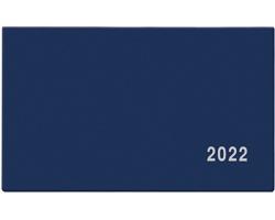 Kapesní týdenní diář Cyril PVC 2022, 15x9 cm - modrá