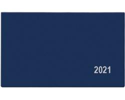 Kapesní týdenní diář Cyril PVC 2021, 15x9 cm - modrá
