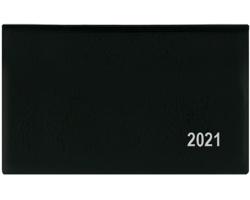 Kapesní týdenní diář Cyril PVC 2020, 9x15cm - černá