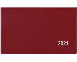 Kapesní týdenní diář Cyril PVC 2020, 9x15cm - bordó