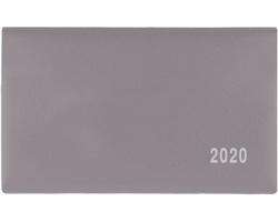 Kapesní týdenní diář Cyril PVC 2020, 9x15cm - šedá