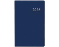 Kapesní týdenní diář Gustav PVC 2022, 8x12 cm - modrá